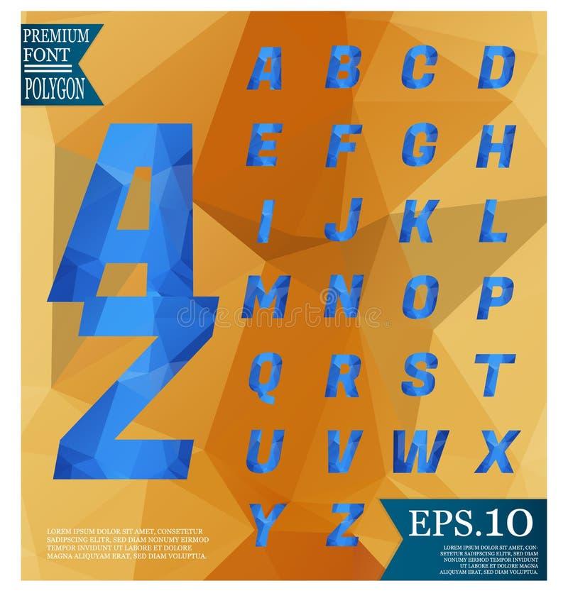 低字体多在几何sha的背景完整色彩的样式 向量例证