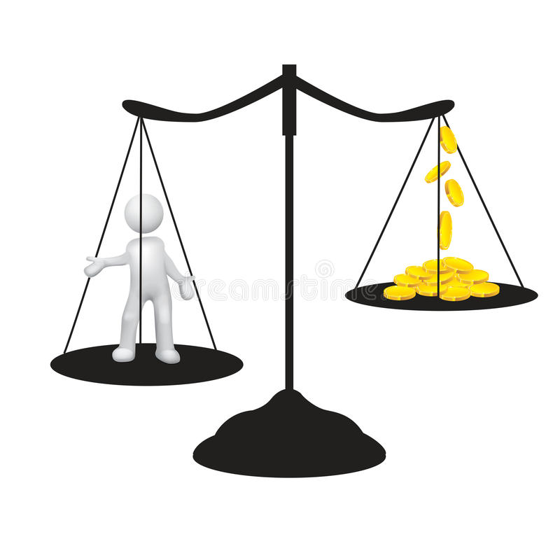 低工资 免版税库存图片