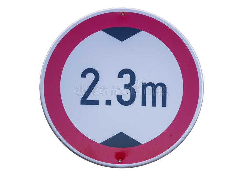 低清除的3交通标志 免版税库存图片