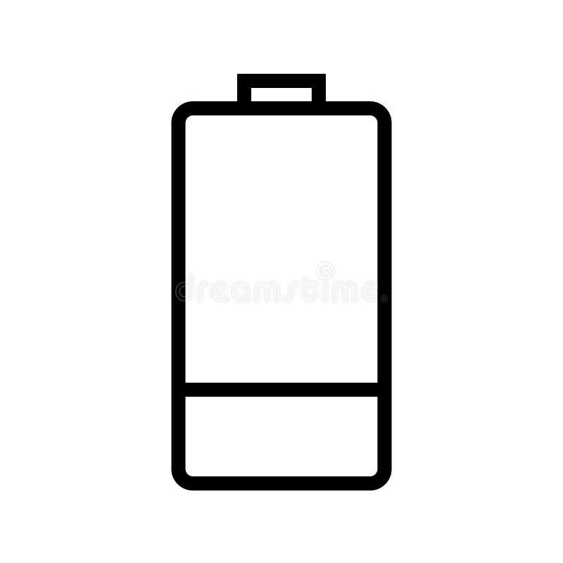 低电池线象 向量例证