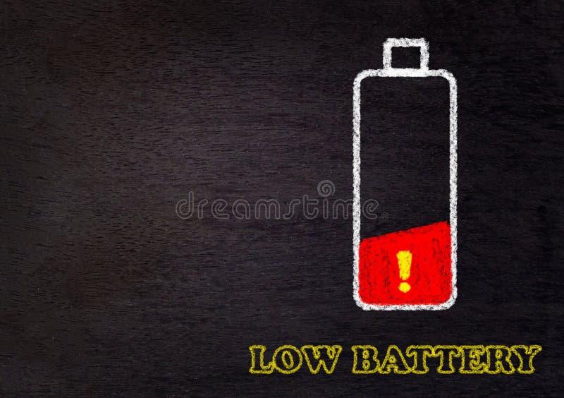 低电池,疲乏的概念 库存图片