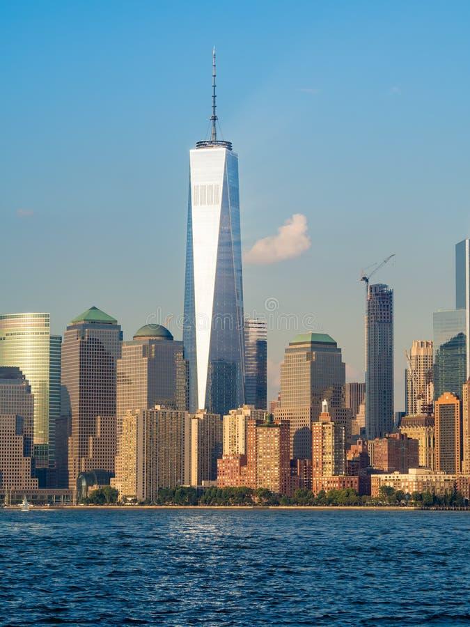 更低的曼哈顿地平线在纽约 免版税图库摄影