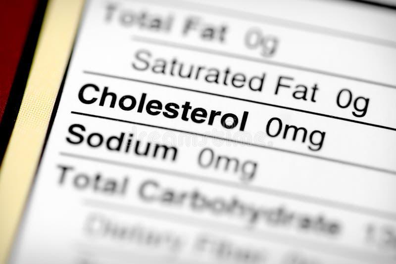 低的胆固醇 库存照片