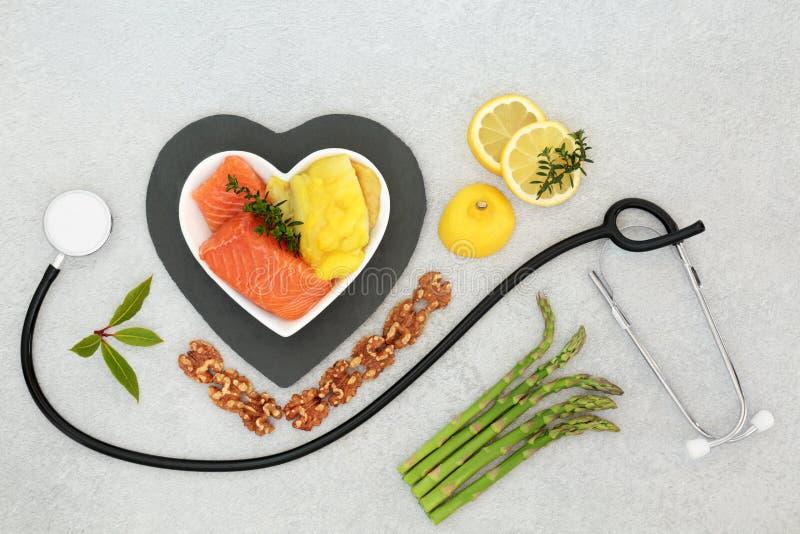 低胆固醇健康心脏食品的选择 库存照片