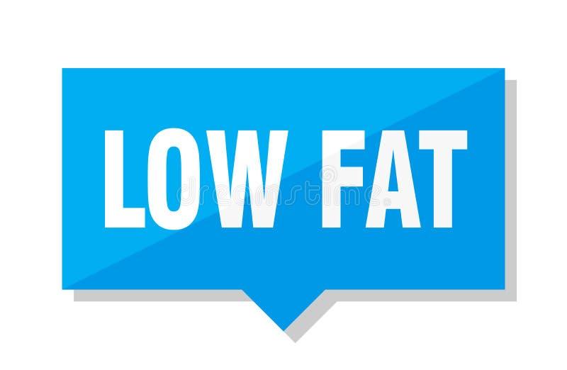 低脂肪价牌 库存例证