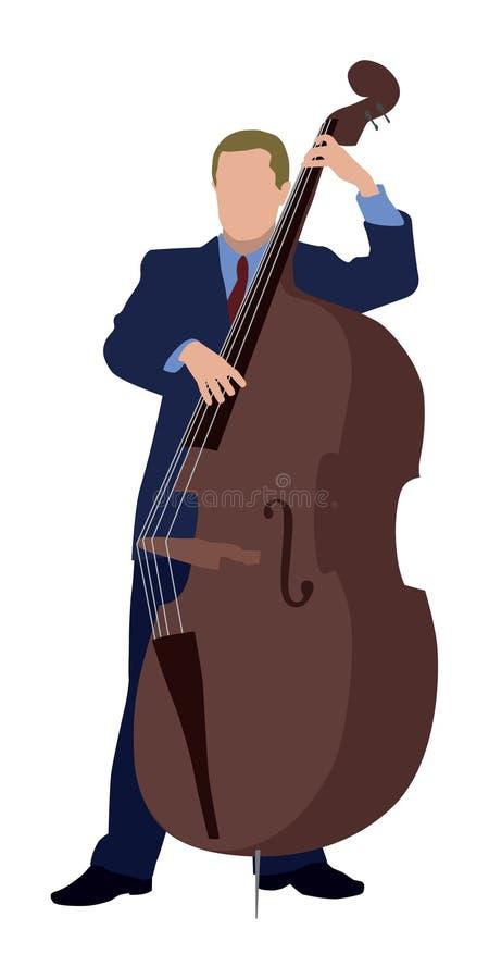低音演奏员 向量例证