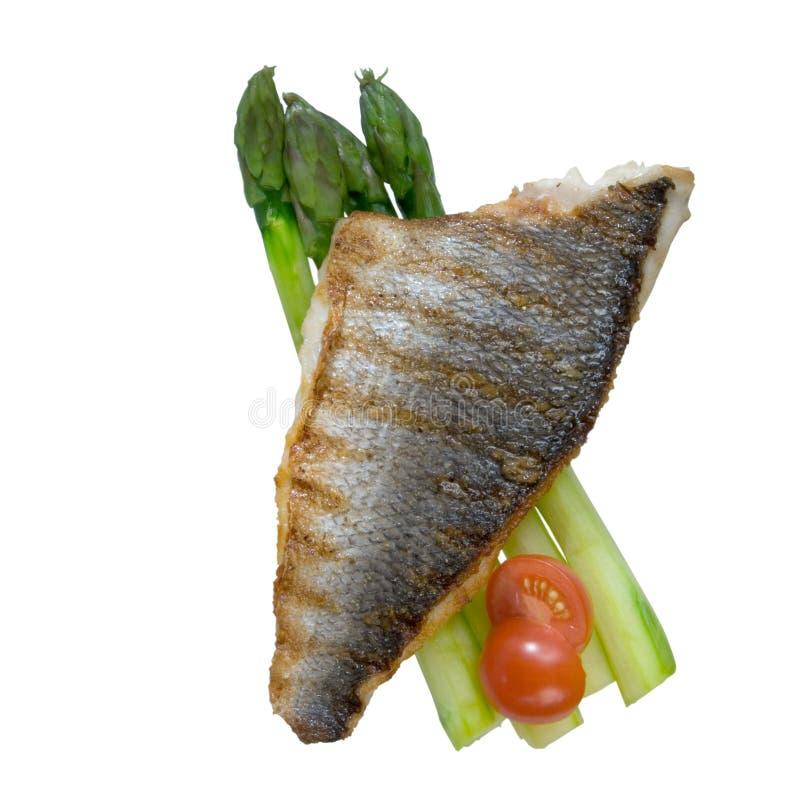低音烤海运蔬菜 库存图片