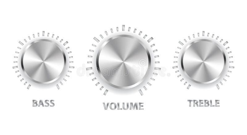 低音瘤金属高音数量 库存例证