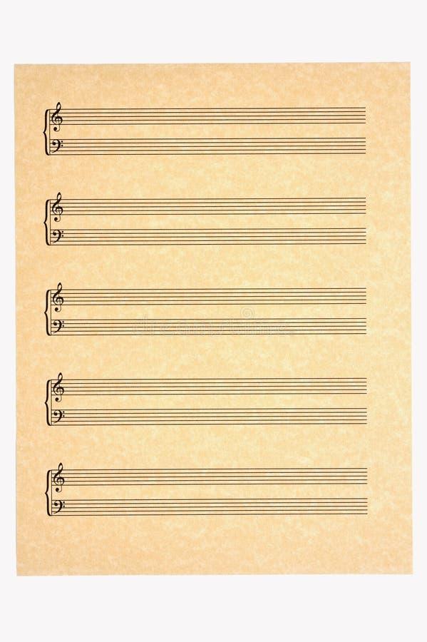 低音空白谱号音乐纸张高音 免版税图库摄影