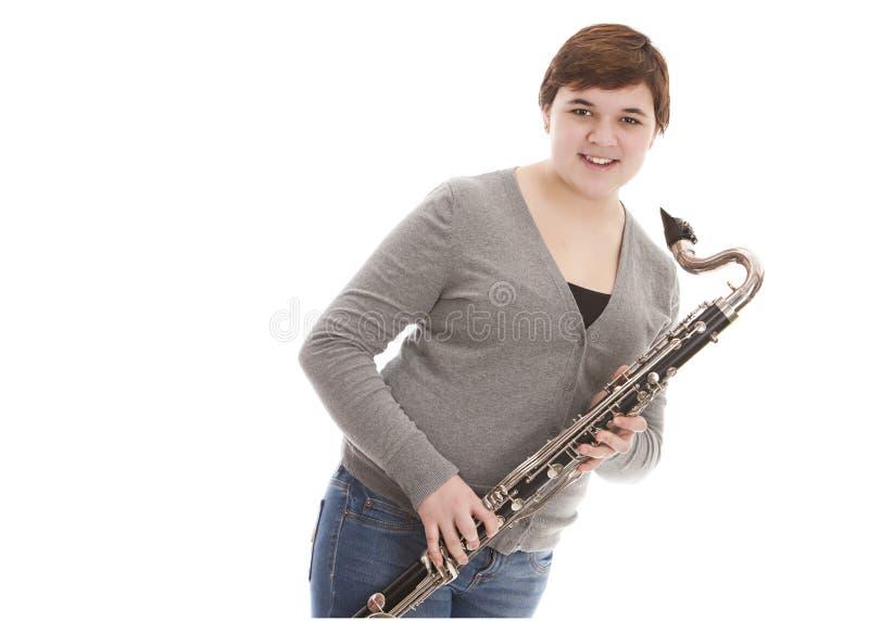 低音笛 免版税库存图片