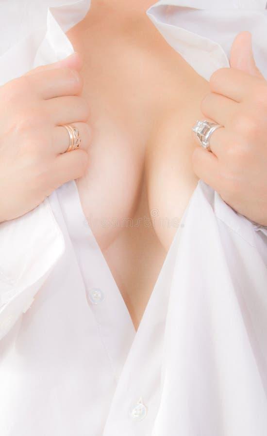 低颈露肩性感 图库摄影