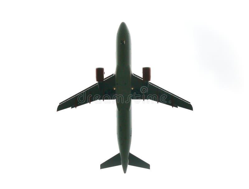 低飞机的飞行 免版税图库摄影