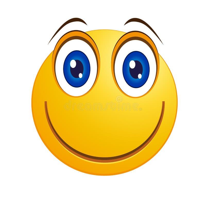 低贱面带笑容-传染媒介 库存例证