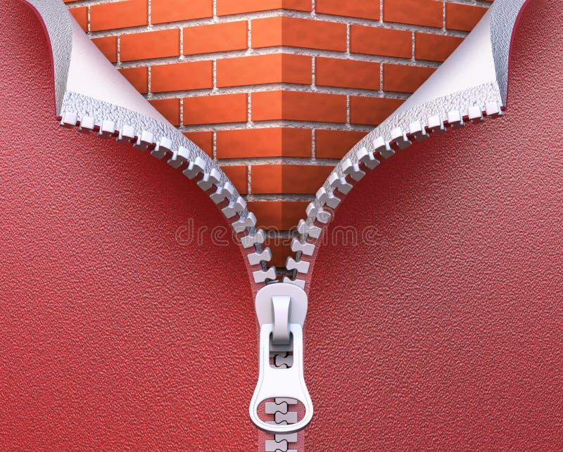 墙壁绝缘材料概念 库存例证