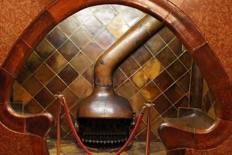 住处Batllo建筑师的巴塞罗那Catalunya内部安东尼・高迪 西班牙 免版税库存照片