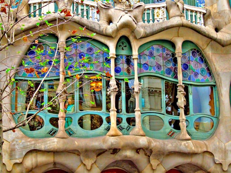 住处Battlà ³房子由Gaudi设计了在巴塞罗那 免版税图库摄影