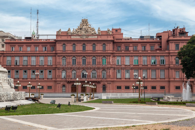 住处Rosada后面门面阿根廷 库存图片