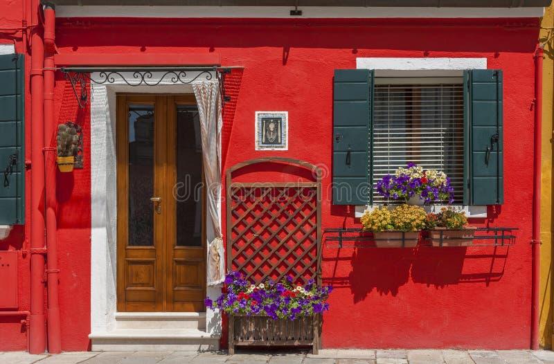 住宅五颜六色的房子 库存照片