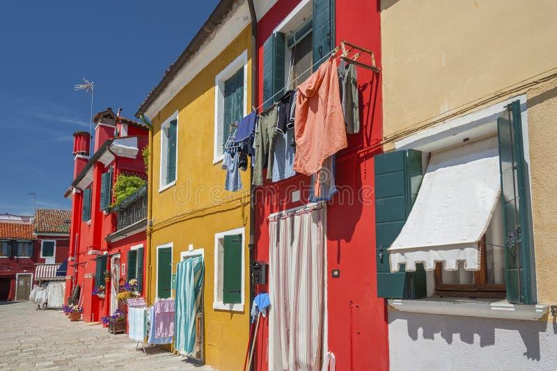 住宅五颜六色的房子 图库摄影