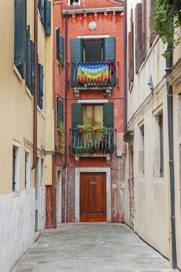 住宅五颜六色的房子 库存图片