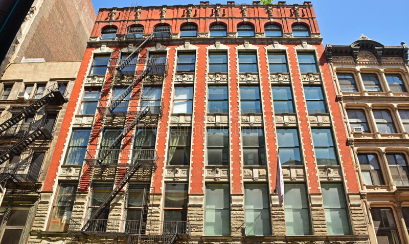 住宅公寓典型的视域在曼哈顿纽约 图库摄影