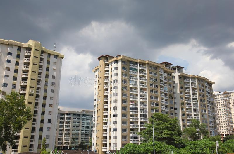 住宅公寓吉隆坡马来西亚 免版税库存照片