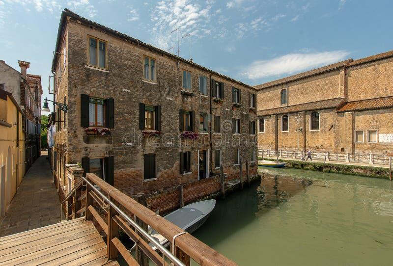 住宅区在威尼斯 库存图片