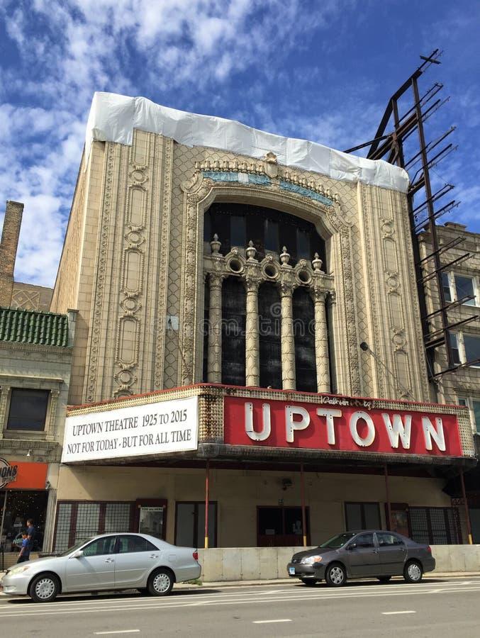 住宅区的剧院,芝加哥,伊利诺伊 库存图片