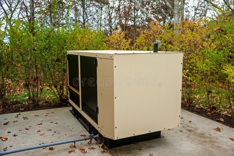 住宅发电器 库存图片