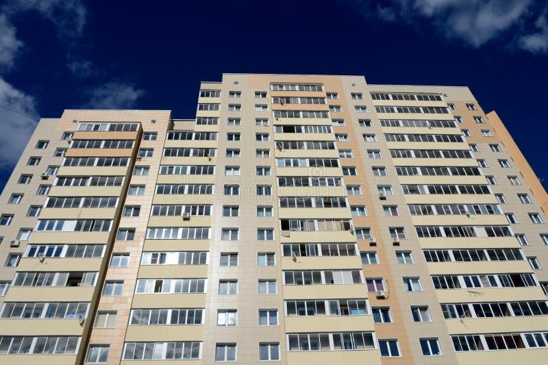 住宅复杂` Kokoshkino `在莫斯科解决Kokoshkino新莫斯科斯克管理区域的中心  库存图片