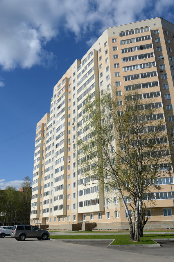 住宅复杂` Kokoshkino `在莫斯科解决Kokoshkino新莫斯科斯克管理区域的中心  图库摄影