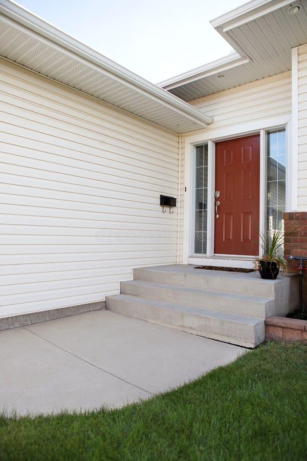 住宅外部的房子 免版税库存照片