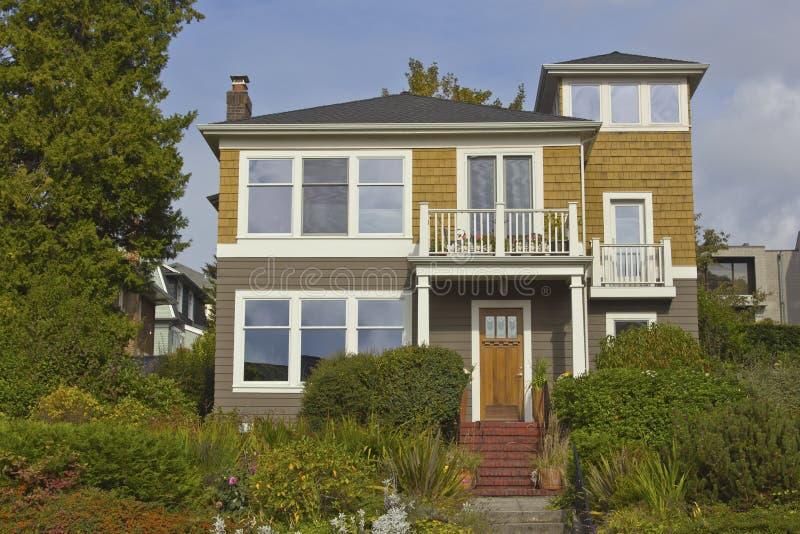 住宅房子西雅图WA。 库存照片