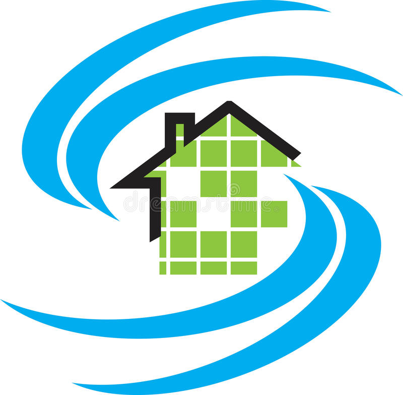住宅的徽标 向量例证
