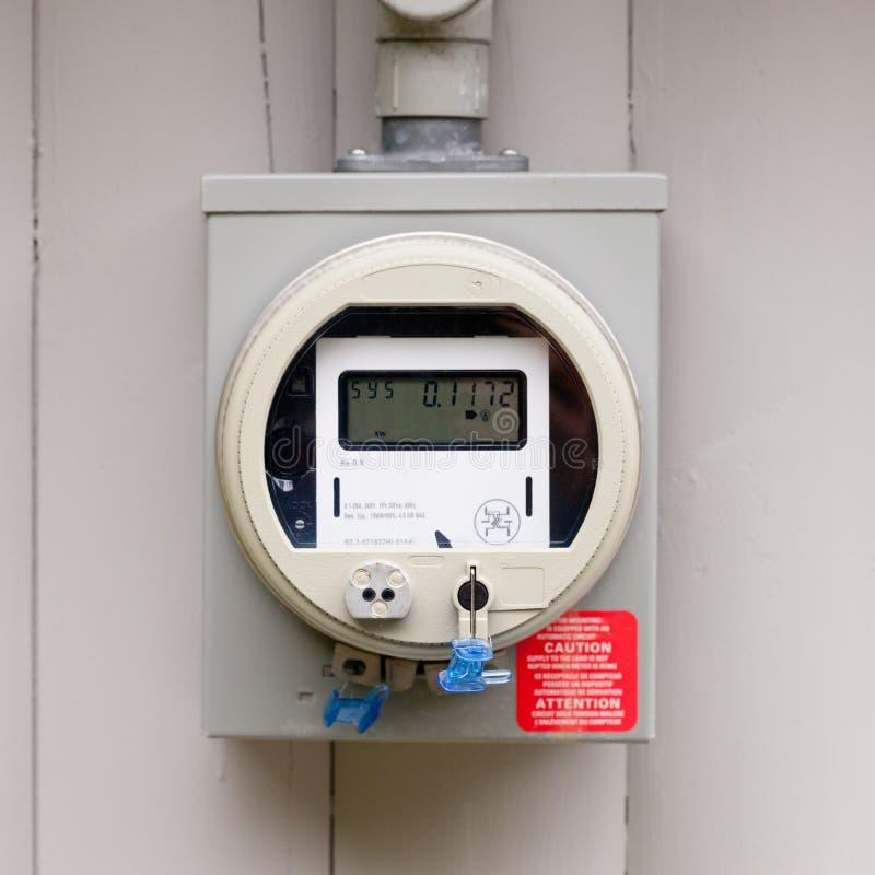 住宅聪明的栅格数字式电源米 免版税库存照片