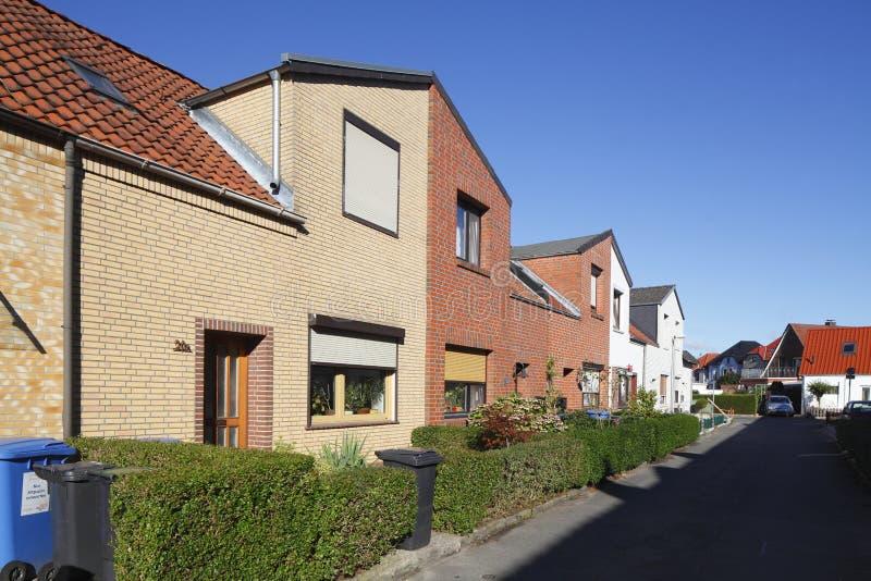住宅行格住宅,德国,欧洲 免版税库存照片