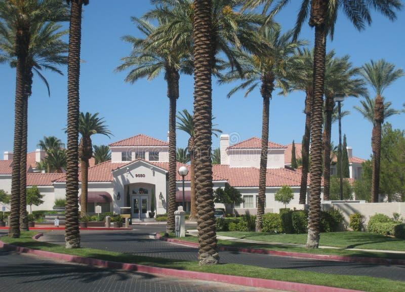 住宅邻里在拉斯维加斯 免版税库存照片