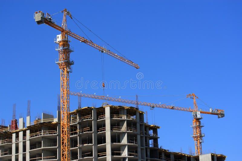 住宅Bu的建筑 免版税库存照片