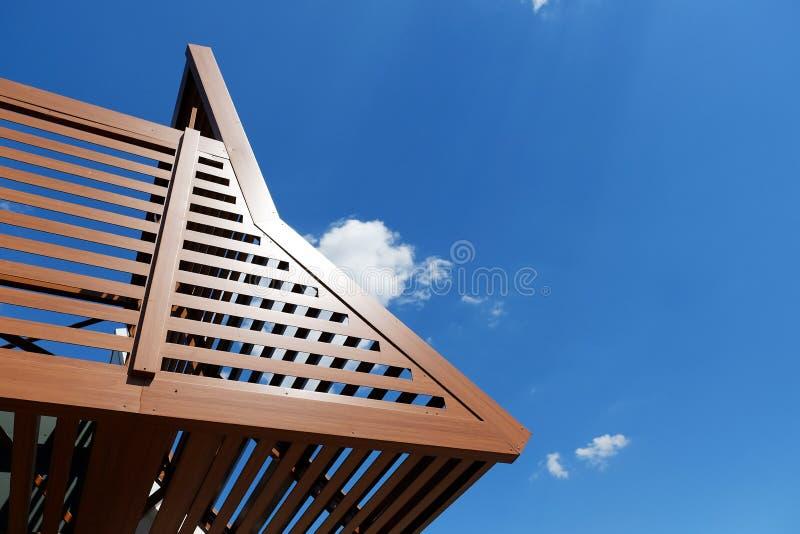 住宅patip或大阳台机盖 图库摄影
