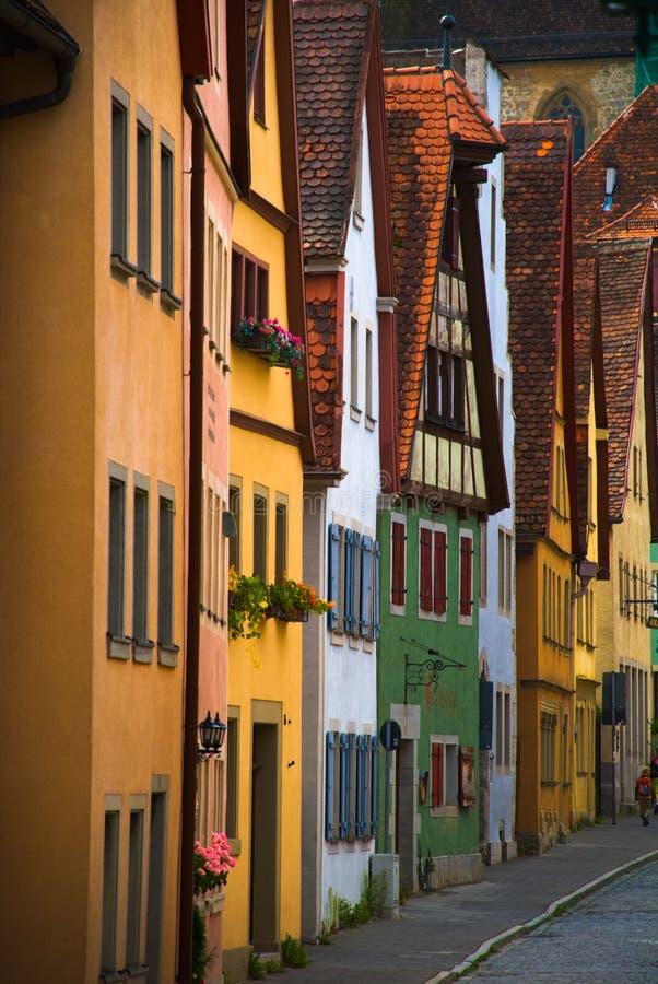 住宅rothenburg 库存图片
