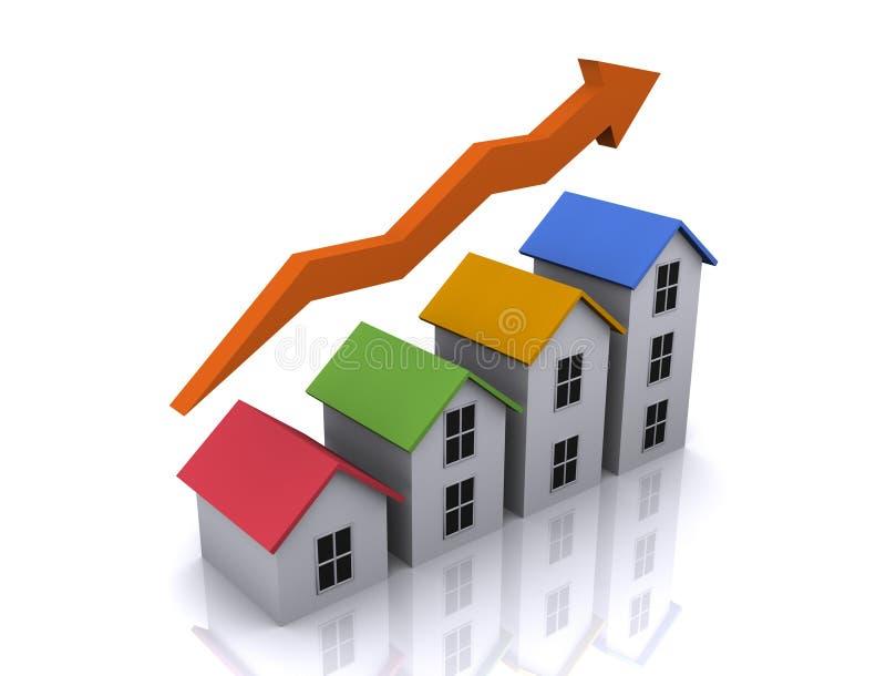 住房增长 皇族释放例证