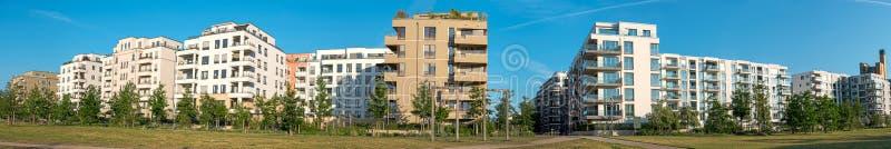住房开发区域的全景 图库摄影