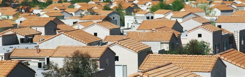 住房开发在南加利福尼亚 库存照片