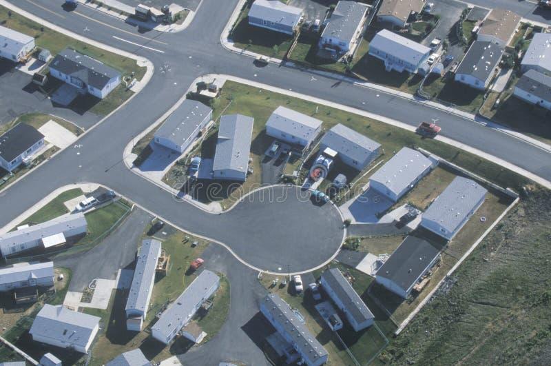 住房开发鸟瞰图, 库存图片