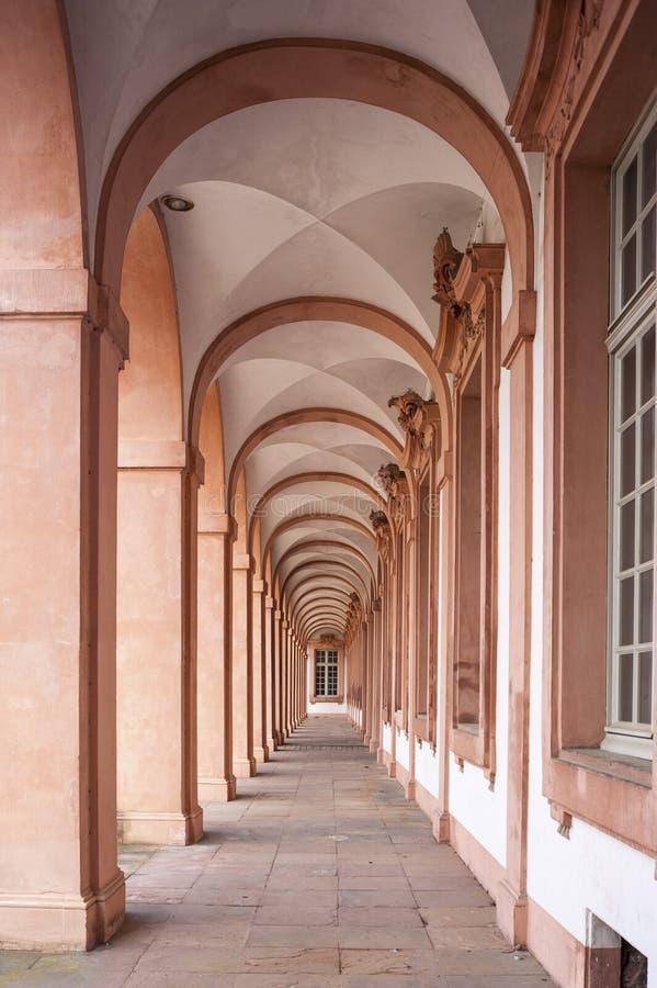 住所城堡的拱廊在拉施塔特 免版税图库摄影