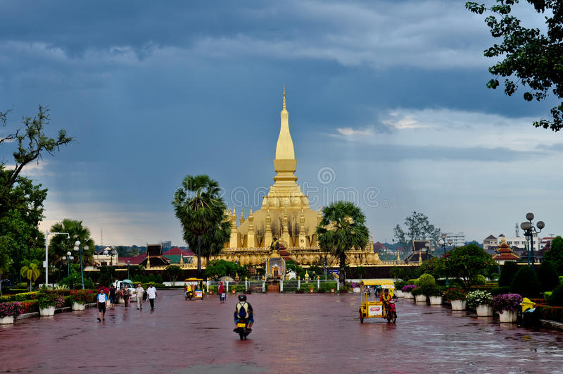 住所Pha Luang,老挝 免版税库存图片