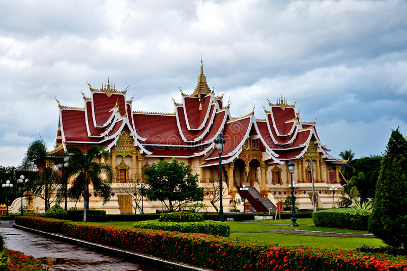 住所Pha Luang,老挝 图库摄影