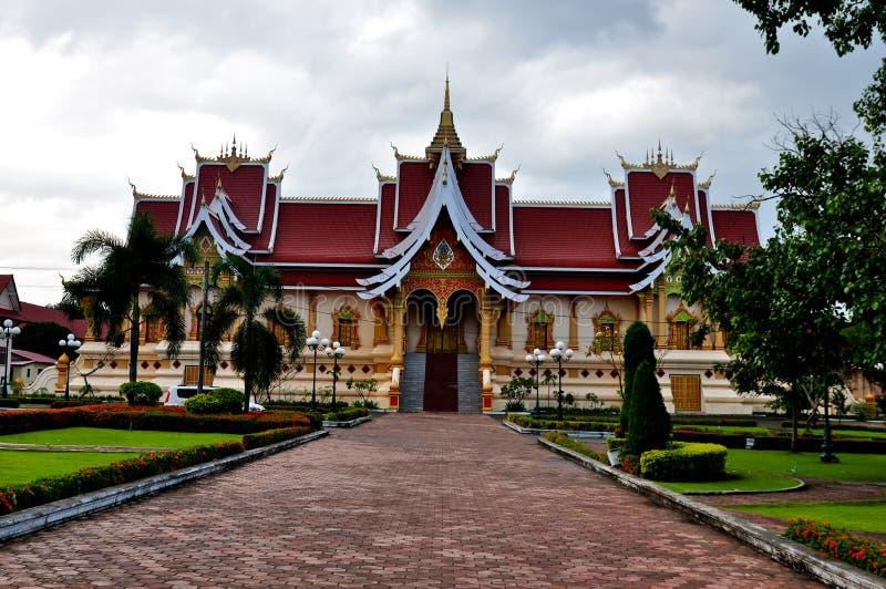 住所Pha Thatluang,老挝 免版税库存图片