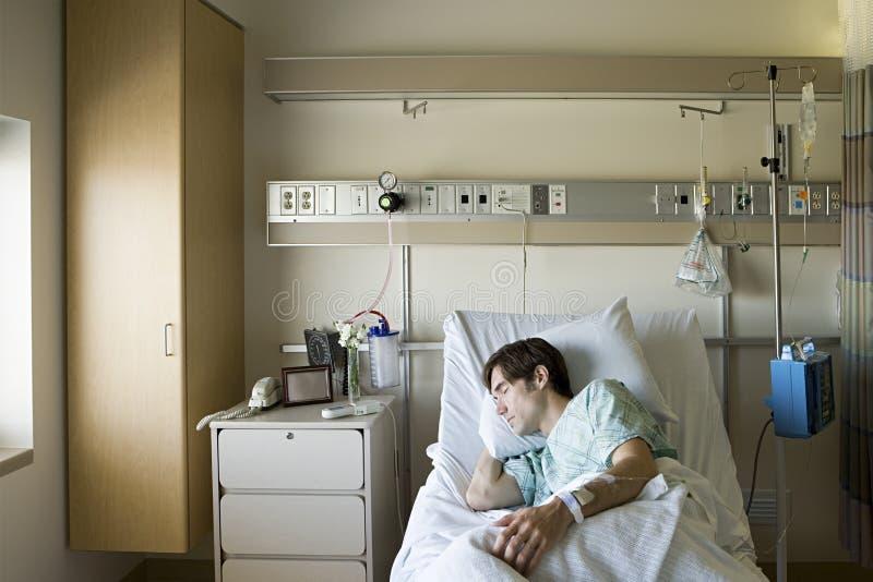 住院病人睡觉 库存图片