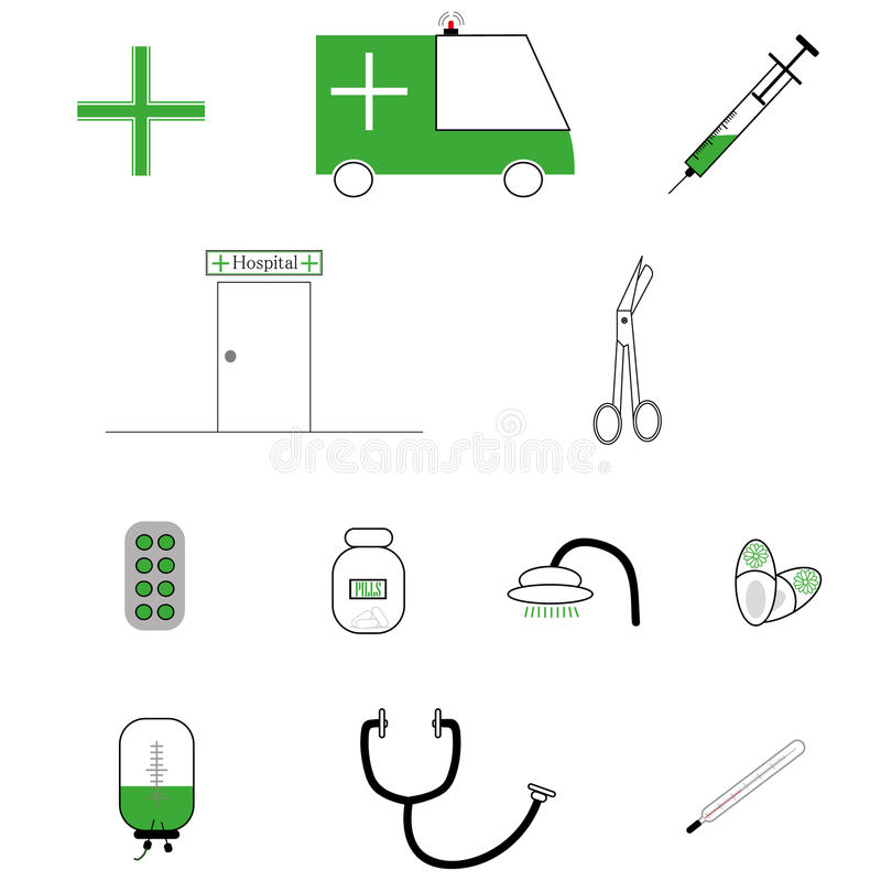 住院治疗,健康 免版税库存照片